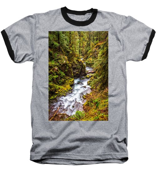 Deep In The Forest Baseball T-Shirt by Ken Stanback
