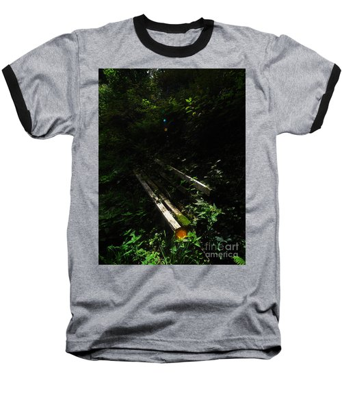 Deep In The Woods Baseball T-Shirt by Andy Prendy