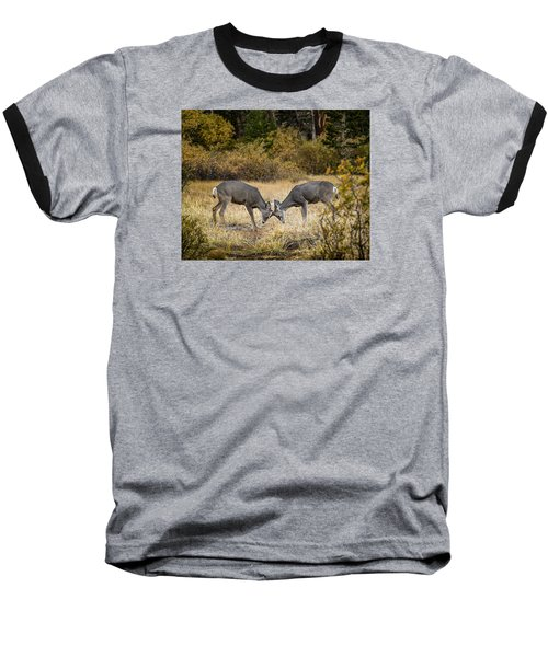 Deer Games Baseball T-Shirt by Janis Knight