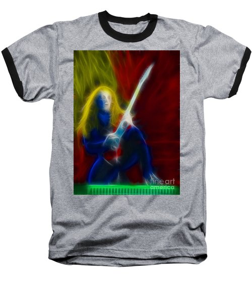 Def Leppard-adrenalize-ga5-vivian-fractal Baseball T-Shirt by Gary Gingrich Galleries