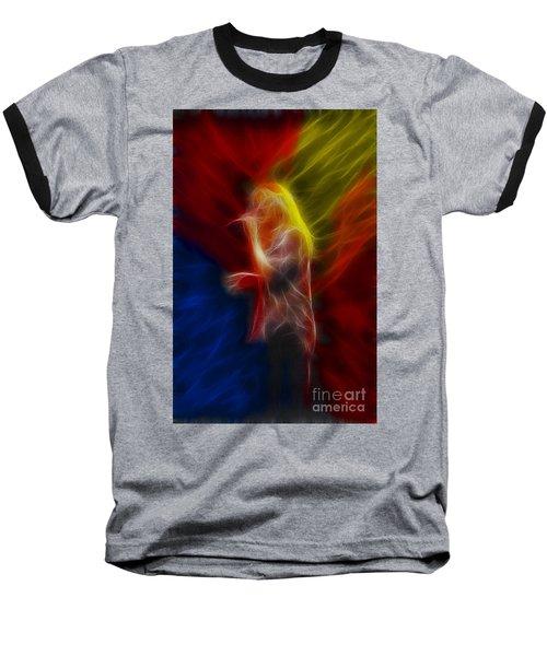 Def Leppard-adrenalize-joe-ga25-fractal Baseball T-Shirt by Gary Gingrich Galleries