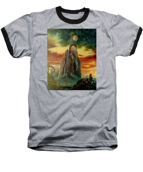 Baseball T-Shirt featuring the painting Defenders Of Rocky Desert by Henryk Gorecki