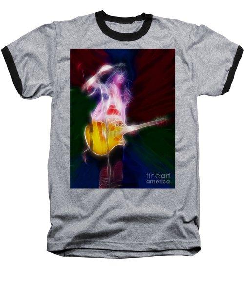 Deff Leppard-adrenalize-joe-gf25-fractal Baseball T-Shirt by Gary Gingrich Galleries