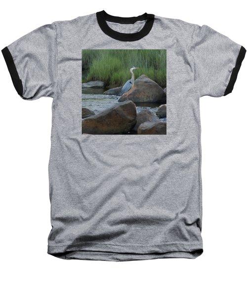 Definitely Blue Heron Baseball T-Shirt