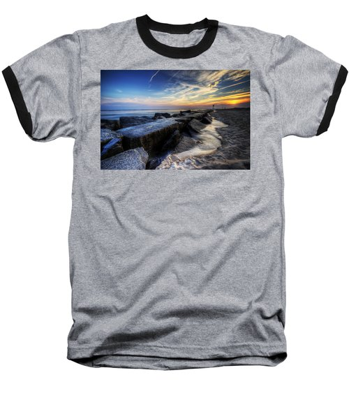 Delaware Sunrise At Indian River Inlet Baseball T-Shirt