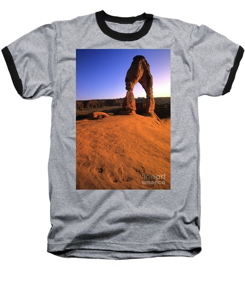 Delicate Arch Baseball T-Shirt by Bob Christopher