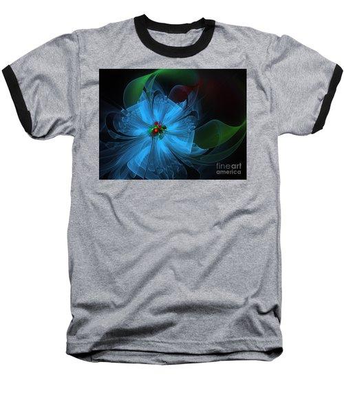 Delicate Blue Flower-fractal Art Baseball T-Shirt