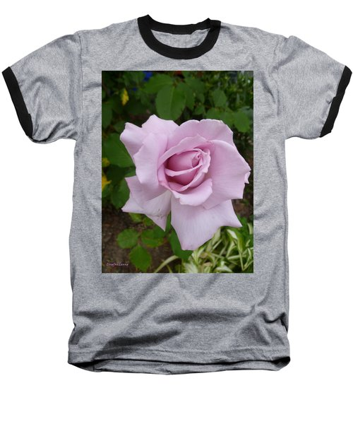 Baseball T-Shirt featuring the photograph Delicate Purple Rose by Lingfai Leung