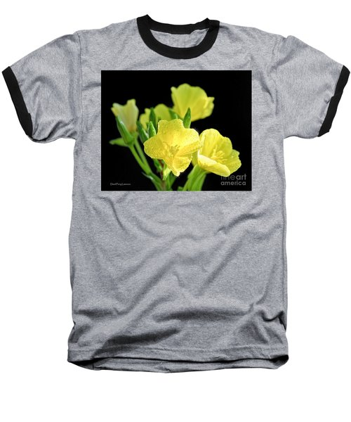 Delicate Yellow Wildflowers In The Sun Baseball T-Shirt