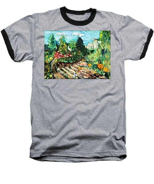 Baseball T-Shirt featuring the painting Delphi Garden by Michael Daniels