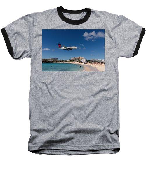 Delta 737 St. Maarten Landing Baseball T-Shirt