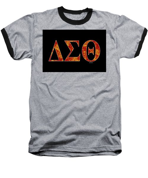 Baseball T-Shirt featuring the digital art Delta Sigma Theta - Black by Stephen Younts