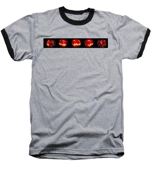 Demented Mister Ullman Pumpkin Baseball T-Shirt