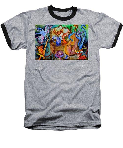 Demon Cats Baseball T-Shirt