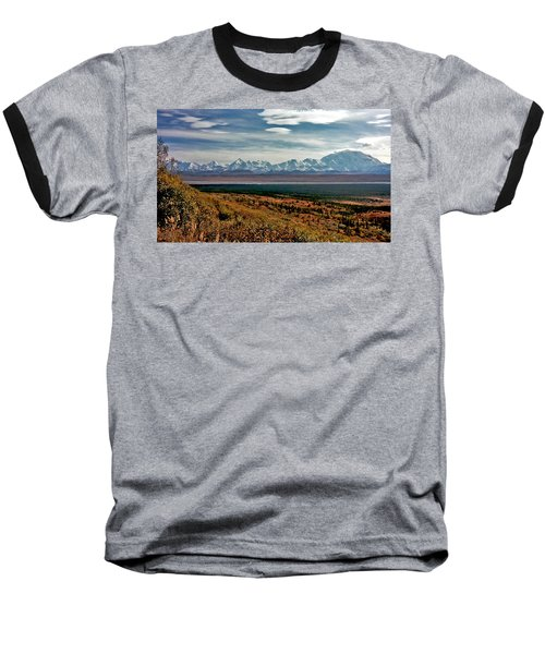 Baseball T-Shirt featuring the photograph Denali Colors by Jeremy Rhoades