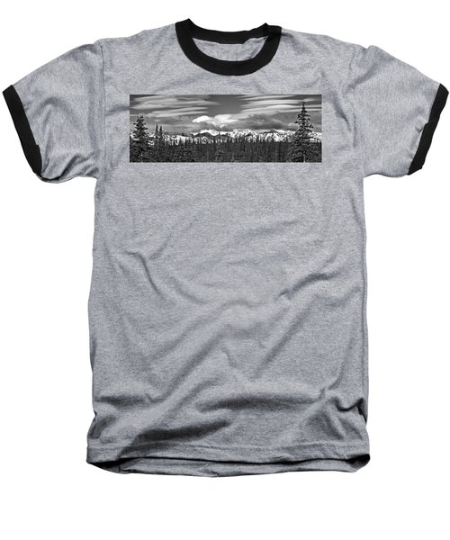 Denali In Clouds Baseball T-Shirt