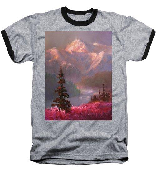 Denali Summer - Alaskan Mountains In Summer Baseball T-Shirt