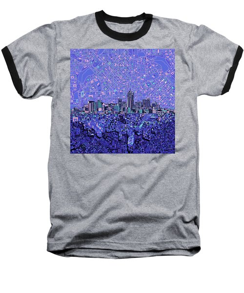 Denver Skyline Abstract 4 Baseball T-Shirt