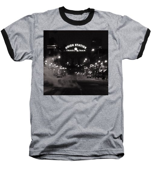 Denver Union Station Square Image Baseball T-Shirt