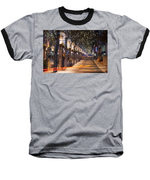 Denver's 16th Street Mall At Christmas Baseball T-Shirt
