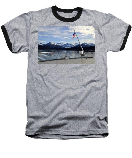 Departing Auke Bay Baseball T-Shirt by Cathy Mahnke