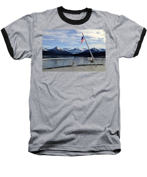 Departing Auke Bay Baseball T-Shirt