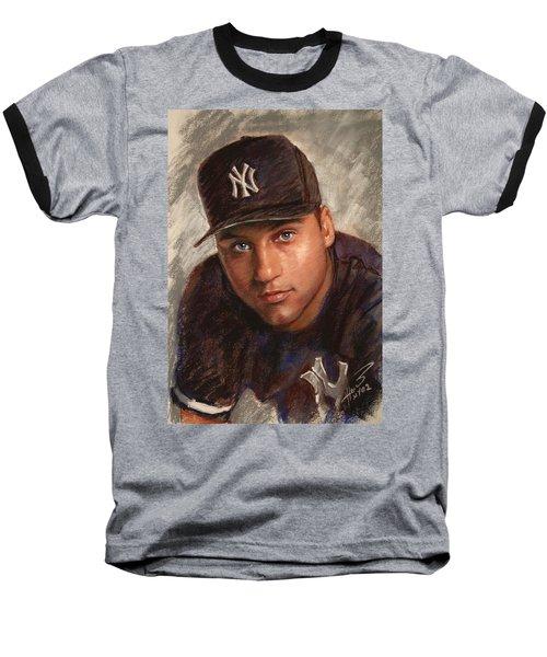 Derek Jeter Baseball T-Shirt by Viola El