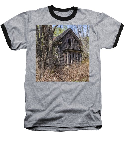 Baseball T-Shirt featuring the photograph Derelict House by Marty Saccone