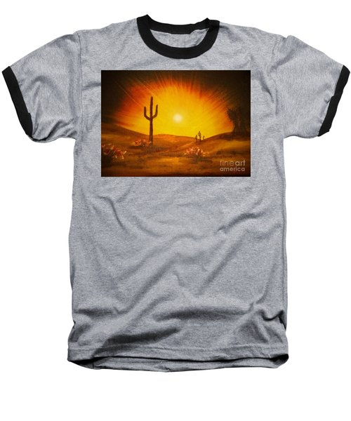 Desert Aglow Baseball T-Shirt by Becky Lupe