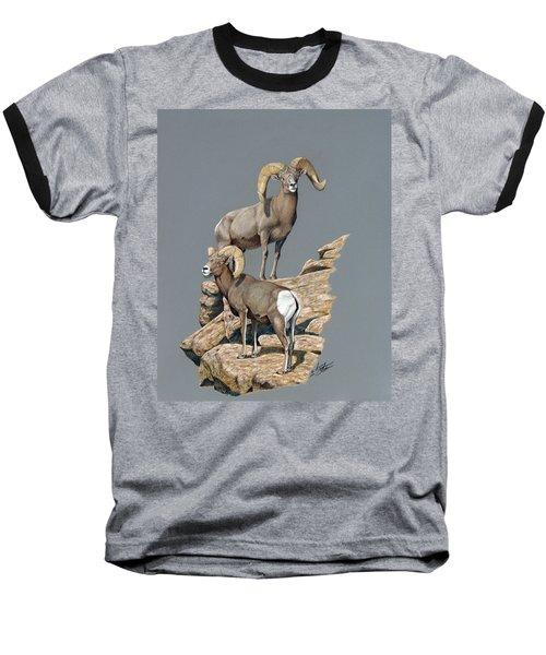 Desert Bighorn Rams Baseball T-Shirt