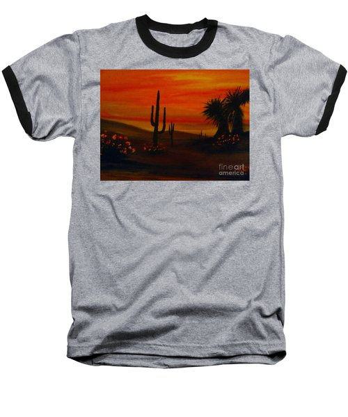 Desert Dance Baseball T-Shirt by Becky Lupe
