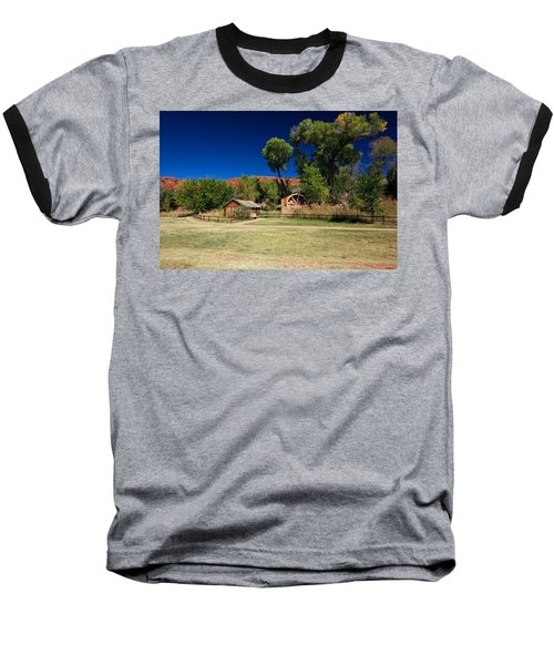 Desert Field Baseball T-Shirt by Dave Files