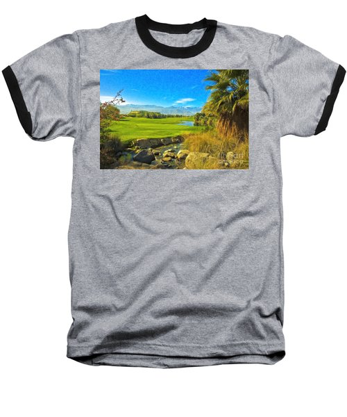 Baseball T-Shirt featuring the photograph Desert Golf Resort Pastel Photograph by David Zanzinger