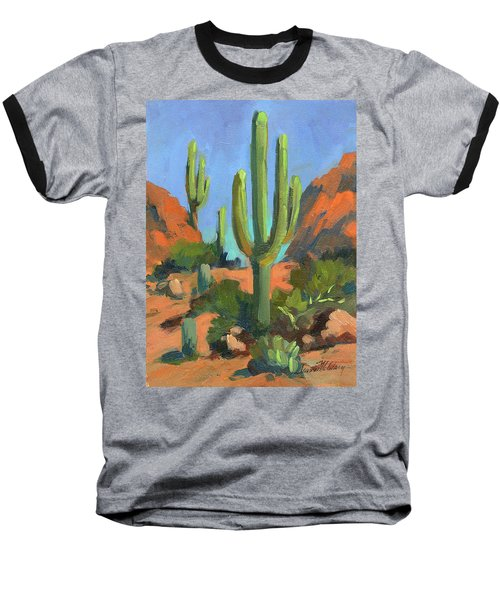 Desert Morning Saguaro Baseball T-Shirt