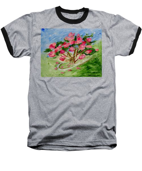 Desert Rose Abstract Baseball T-Shirt
