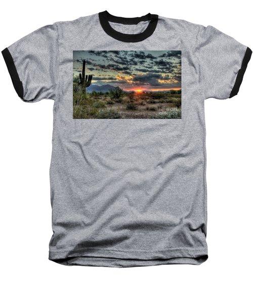 Desert Sunrise  Baseball T-Shirt by Saija  Lehtonen