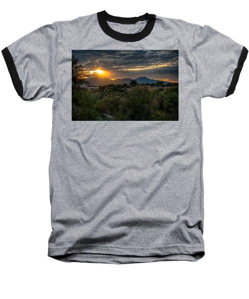 Baseball T-Shirt featuring the photograph Desert Sunset by Dan McManus