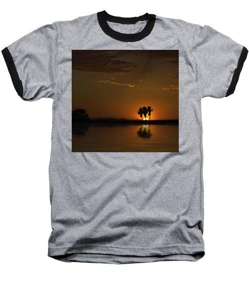 Desert Sunset Baseball T-Shirt by Lynn Geoffroy