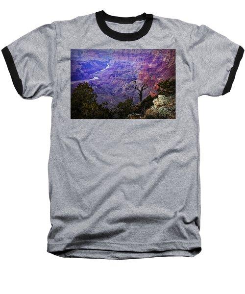 Desert View Sunset Baseball T-Shirt by Priscilla Burgers