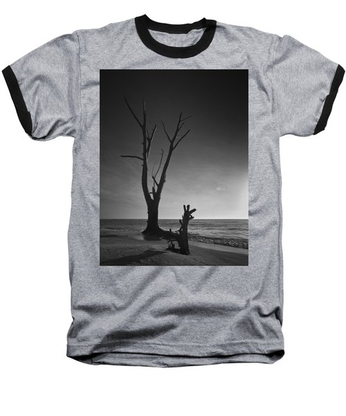 Deserted Beach Sunset Baseball T-Shirt