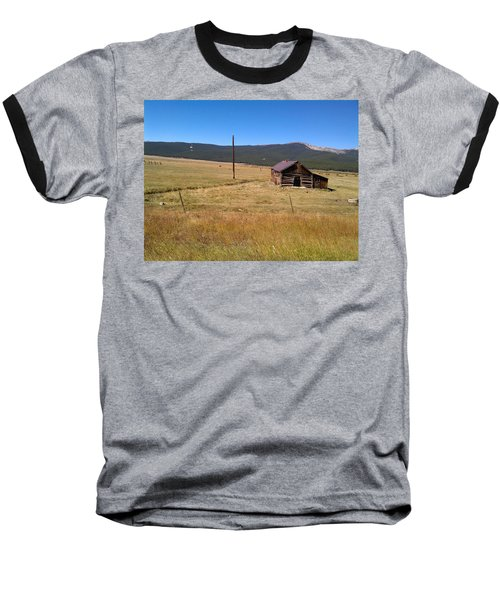 Baseball T-Shirt featuring the photograph Deserted Cabin by Fortunate Findings Shirley Dickerson