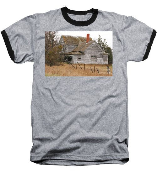 Baseball T-Shirt featuring the photograph Deserted House by Mary Carol Story