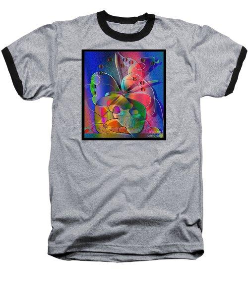Baseball T-Shirt featuring the digital art Design #29 by Iris Gelbart