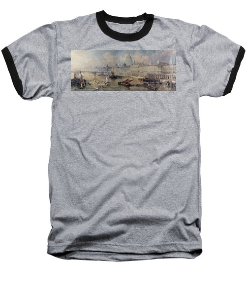 Design For The Thames Embankment Baseball T-Shirt by Thomas Allom
