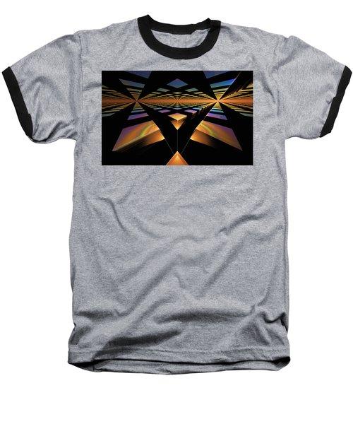 Baseball T-Shirt featuring the digital art Destination Paths by GJ Blackman