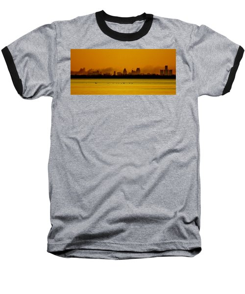 Detroit At Dawn Baseball T-Shirt