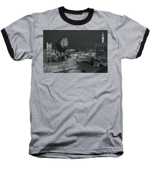 Detroit Lions Baseball T-Shirt by Nicholas  Grunas