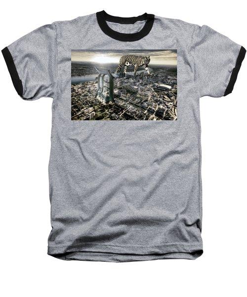 Detroit Baseball T-Shirt by Nicholas  Grunas