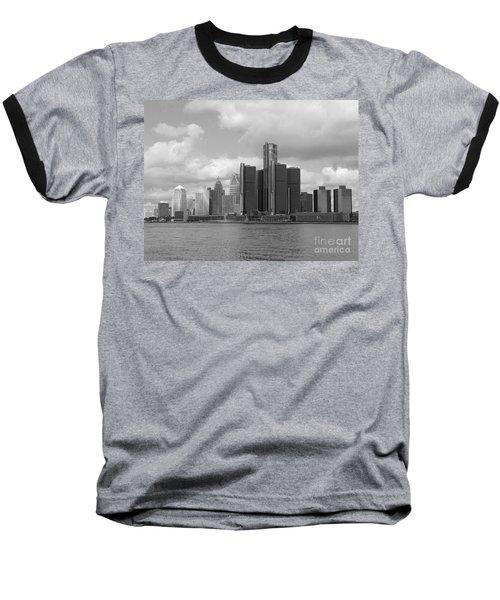 Detroit Skyscape Baseball T-Shirt