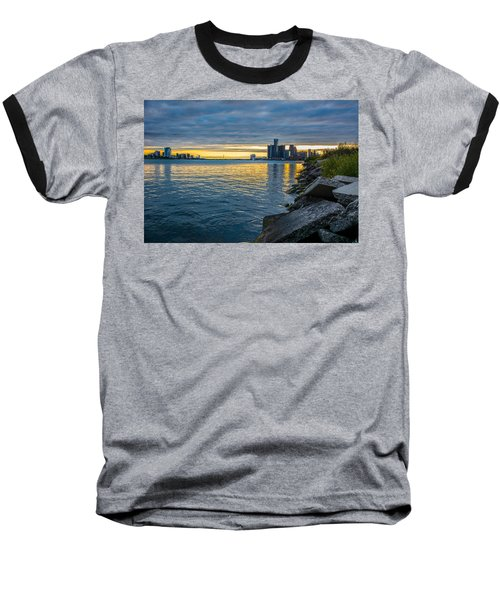 Detroit Sunset Baseball T-Shirt